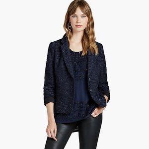 Lucky Brand Navy Tweed Blazer